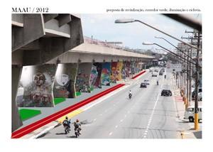 Proposta de revitalização da Av. Cruzeiro do Sul, divulgada no perfil do Maau no Facebook (Foto: Reprodução)