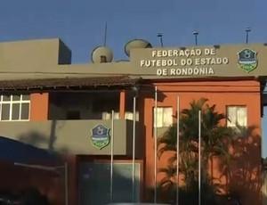 Federação de Futebol do Estado de Rondônia - FFER (Foto: Reprodução/TV Rondônia)