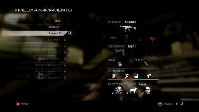 Captura de Tela 2014-05-26 às 12.06.31Call of Duty Ghosts: como criar e editar classes no game (Foto: Reprodução/Murilo Molina)