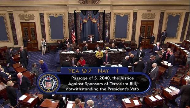 Congresso americano derrubou na quarta veto do presidente Obama (Foto: C-SPAN2 via AP)