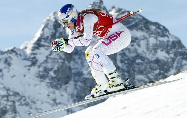 esqui Lindsey Vonn Copa do Mundo de St Moritz (Foto: AP)