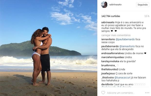 Sabrina Sato parabeniza Duda Nagle pelos 34 anos (Foto: Reprodução/Instagram)