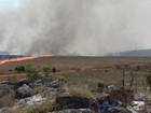 Fogo atinge parte alta do Parque Nacional da Serra da Canastra