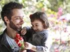 Mouhamed Harfouch festeja o Dia dos Pais e se derrete pela filha, Ana Flor