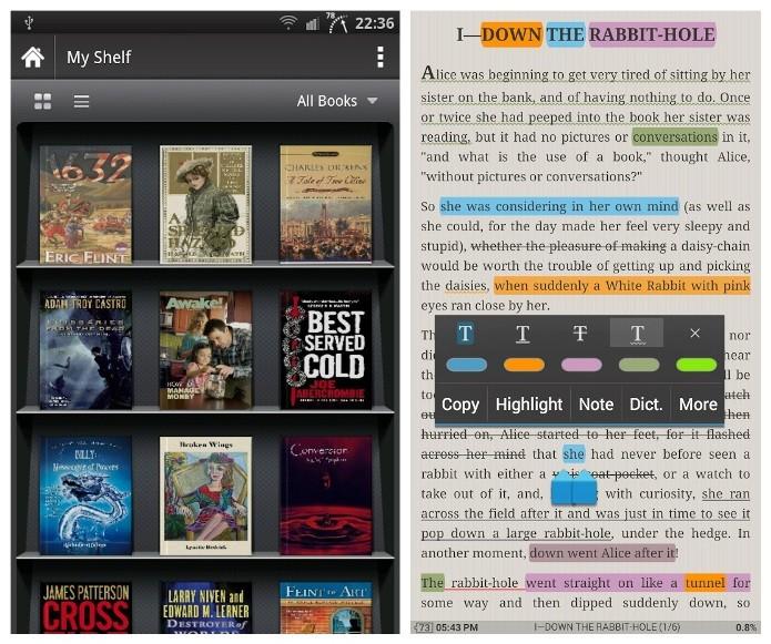 O Moon + Reader suporta arquivos em diversos formatos (Foto: Divulgação)