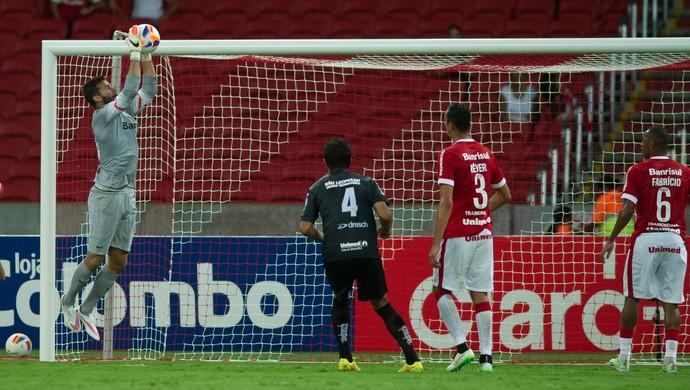Sistema defensivo do Inter contra o Aimoré (Foto: Alexandre Lops / Inter, DVG)