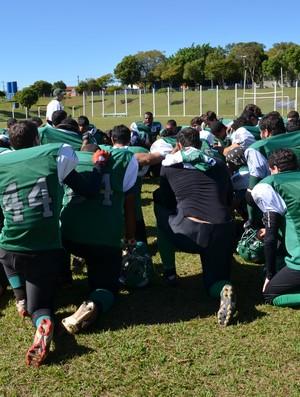 Equipe do Lobos Uberlândia, futebol americano (Foto: Divulgação/ Assessoria)
