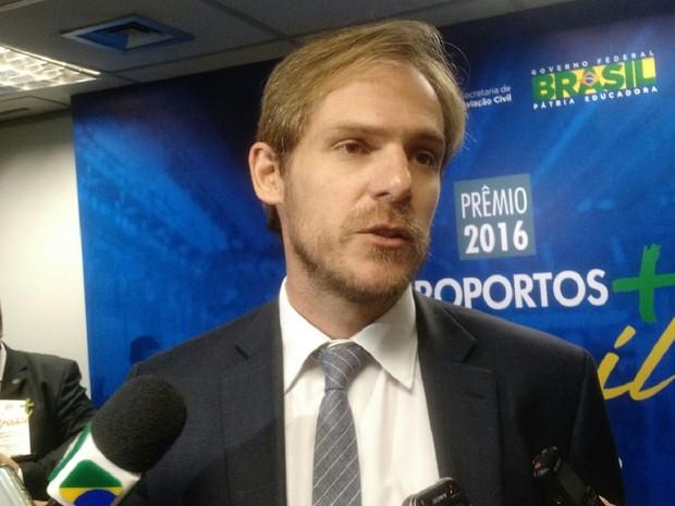 Guilherme Ramalho, ministro interino da Secretaria de Aviação Civil (Foto: Laís Alegretti/G1)