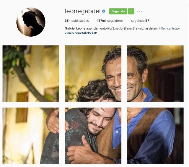 Gabriel Leone e Domingos Montagner (Foto: Reprodução/Instagram)