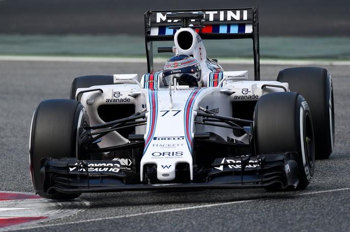 Companheiro de Felipe Massa, Valtteri Bottas liderou o último dia de testes em Barcelona (Foto: Getty Images)