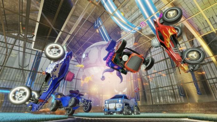 Rocket League inova ao misturar carros de corrida com futebol (Divulgação/Sony)