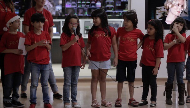 Colaboradores da TV Anhanguera receberam um recadinho especial (Foto: TV Anhanguera)