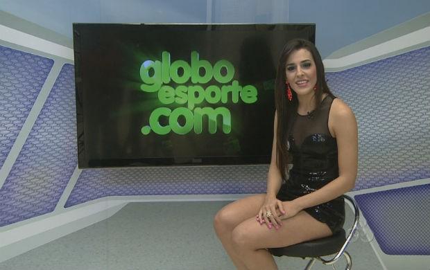 Candidata do Santos/AP a Musa do Amapazão 2014, Julia Sussuarana (Foto: Reprodução/TV Amapá)