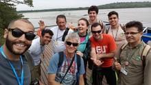 Michelly conheceu o Parque Nacional do Iguaçu; reveja (divulgação/RPC)