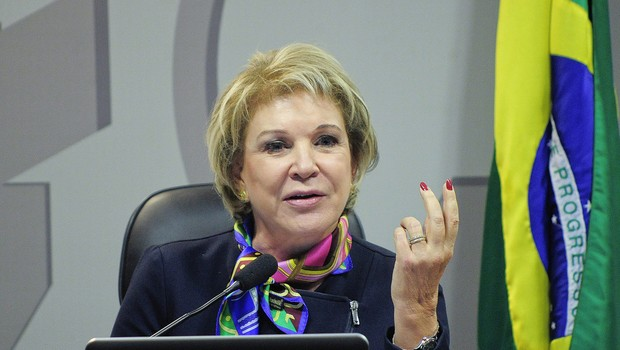 A senadora  Marta Suplicy (PMDB-SP) preside a Comissão de Assuntos Sociais (CAS) (Foto: Geraldo Magela/Agência Senado)