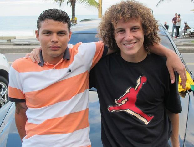 Thiago Silva e David Luiz seleção brasil (Foto: Márcio Iannacca)