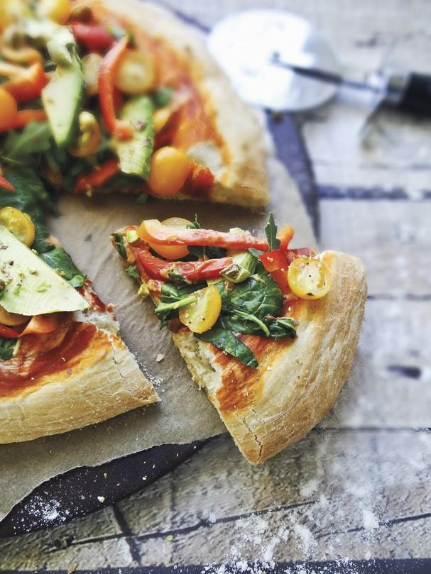 Receita: Pizza Salada de Rúcula - una dois pratos em um só!