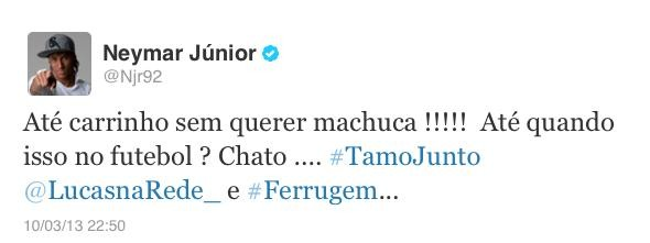 Neymar twitter carrinho (Foto: Reprodução / Twitter)