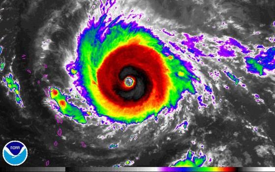 Furacão Irma, segundo imagens de satélite da agência americana de oceanos e atmosfera NOAA (Foto: NOAA)