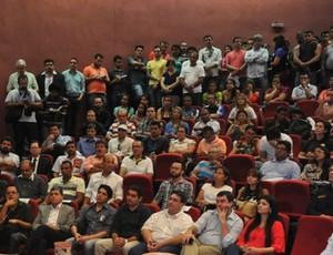 Presidente da Fundesporte, Marcelo Ferreira Miranda, fala na abertura do fórum (Foto: Divulgação/Fundesporte)