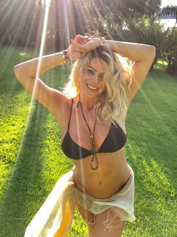 Karina Bacchi está grávida de quatro meses. Como está radiante, né?! (Foto: Acervo pessoal)
