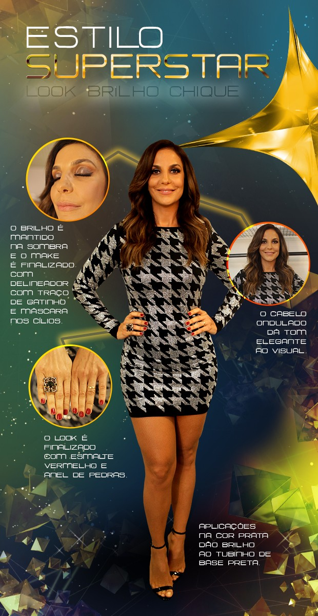 Arte Look Ivete Sangalo (Foto: SuperStar/TV Gobo)