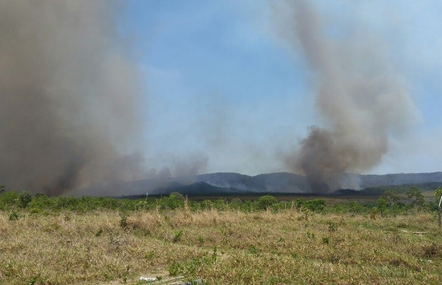 Incêndio atinge 11 mil hectares do Parque Nacional da Chapada dos Veadeiros em Alto Paraíso de Goiás (Foto: Divulgação/ICMBio)