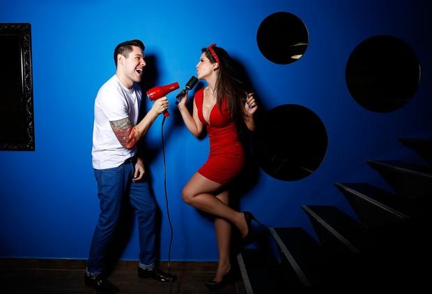 Andressa e Nasser posam para o EGO (Foto: Marcos Serra Lima/EGO)