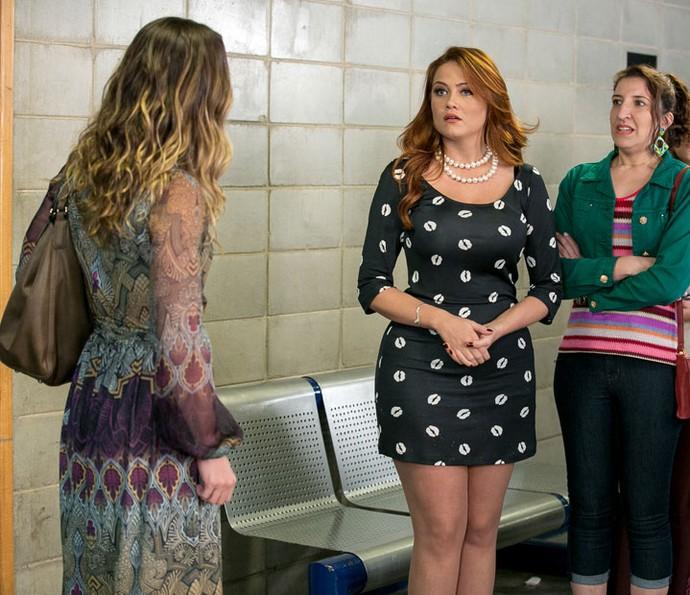 Ex-BBB fica em saia justa com Vanessa Lóes, mulher do ator (Foto: Isabella Pinheiro/Gshow)