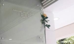 Fãs visitam túmulos de Chorão e Champignon em Santos, SP