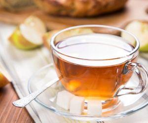 Chá para emagrecer de maçã, pêssego, tangerina e romã