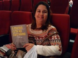 Economista Marta Virgínia se disse encantada com a história do baiano (Foto: Alan Tiago Alves/G1)