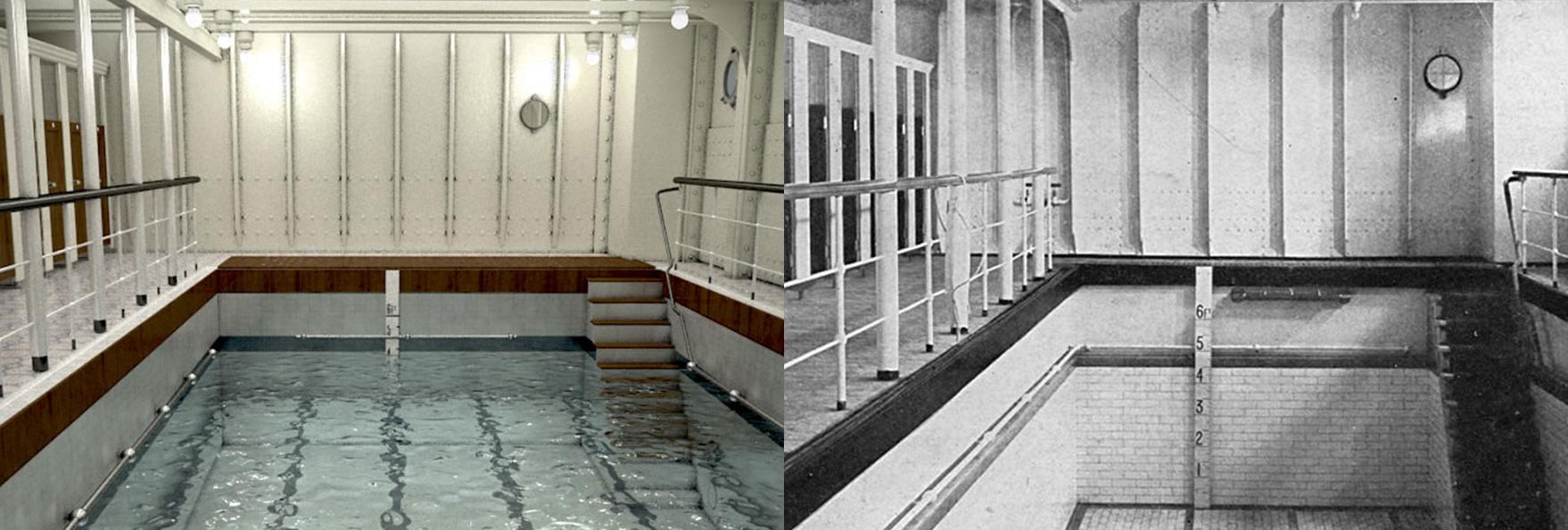 A piscina do navio (FOTO: DIVULGAÇÃO)