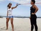 Fotos: confira imagens do treino de Letícia Wiermann em praia do Rio de Janeiro