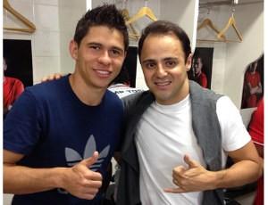 Osvaldo e Felipe Massa (Foto: reprodução)