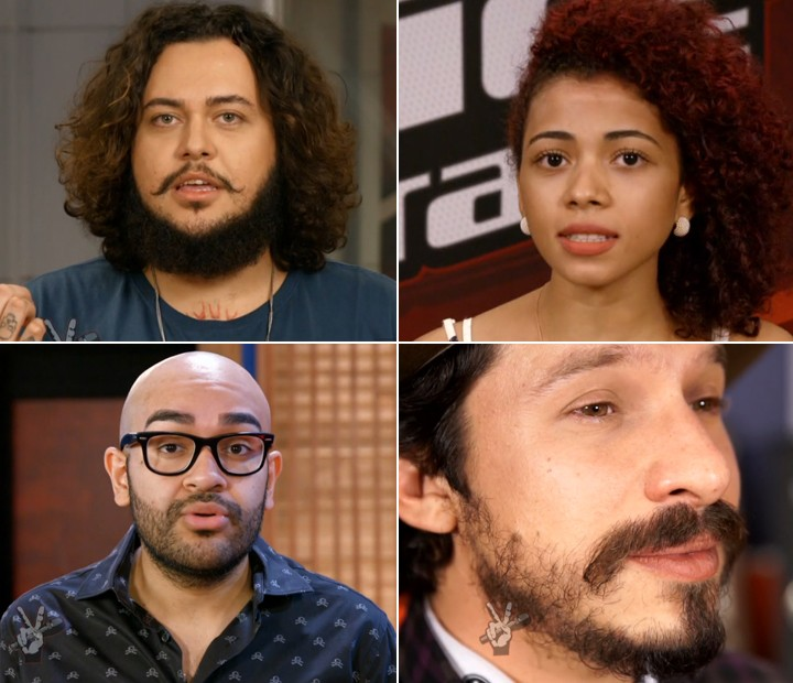 Participantes do The Voice ensinam técnicas vocais (Foto: Globo)