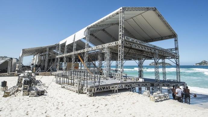 Estrutura Circuito Mundial de Surfe Rio Pro 2016 (Foto: Divulgação/WSL)