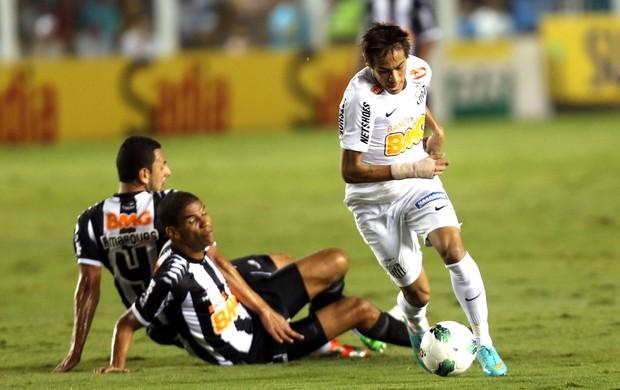 Neymar, Santos e Atlético-mg (Foto: JF Diorio / Agência Estado)
