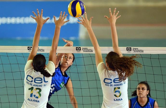 Vôlei feminino nos Jogos Escolares da Juventude (Foto: Gaspar Nóbrega/Exemplus/COB)