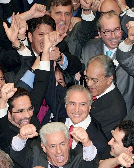 Temer eleito presidente da câmara  (Foto: Ed Ferreira/Estadão Conteúdo)