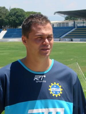 O atacante Preto, do São José Esporte Clube (Foto: Danilo Sardinha/Globoesporte.com)