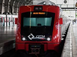 Trens novos da CPTM entregues durante evento nesta segunda (Foto: Edson Lopes Jr./Divulgação Governo de SP)