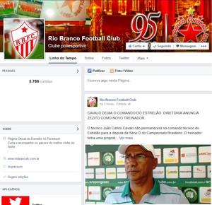 José Araújo, novo treinador Rio Branco-AC (Foto: Reprodução/Facebook)