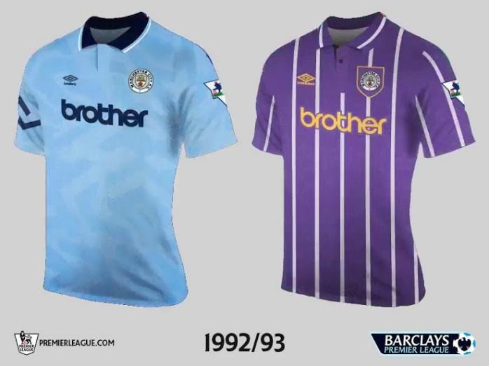 Manchester City Premier League Retrô