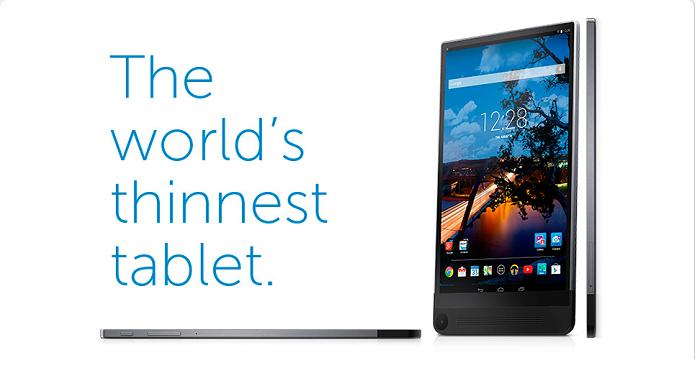 Dell anunciou tablet fino, mas potente (Foto: Divulgação/Dell)