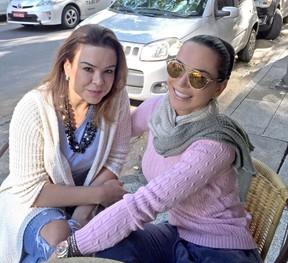 Eliana Amaral e Fernanda: ex de João Kléber (Foto: Arquivo Pessoal/Divulgação)