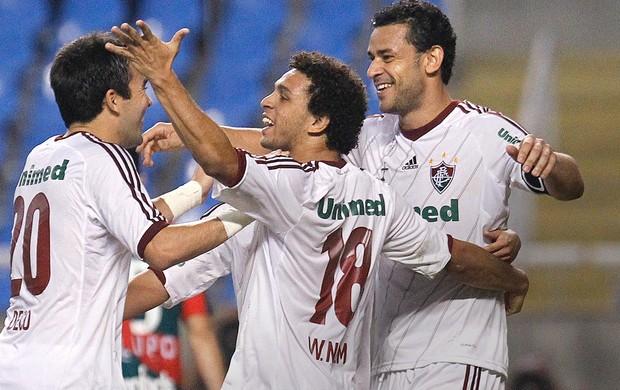 Deco, Wellington Nem e Fred, Fluminense x Portuguesa (Foto: Wagner Meier / Agência Estado)