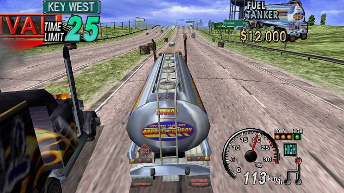 18 Wheeler: American Pro Trucker é um dos mais famosos jogos de caminhão (Foto: Reprodução/Nerd Bacon)