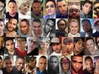 Montagem mostra 38 das 49 vítimas do ataque em boate gay de Orlando