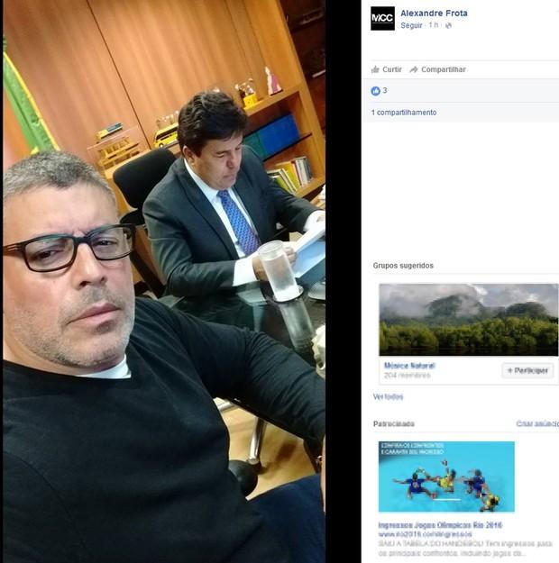 alexandre frota, ator, mendonça filho, ministro, ministério da educação (Foto: Reprodução/Facebook)